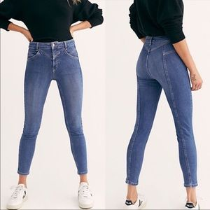 Free People Riley Seamed Skinny Jeans Sz 29